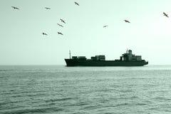 Navio de carga Foto de Stock Royalty Free