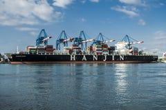 Navio de carga asiático Fotografia de Stock Royalty Free