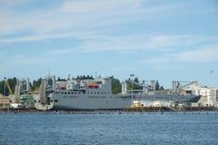 Navio de carga da marinha dos E.U. Fotos de Stock