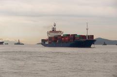 Navio de carga de Hong Kong Imagem de Stock Royalty Free