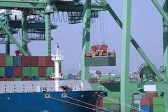 Navio de carga do carregamento Foto de Stock Royalty Free