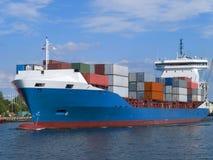 Navio de carga do recipiente Foto de Stock