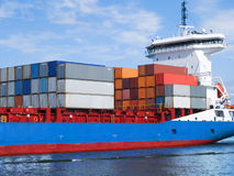 Navio de carga do recipiente Foto de Stock Royalty Free