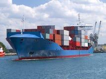 Navio de carga do recipiente Imagem de Stock Royalty Free