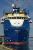Navio de carga geral azul Imagem de Stock Royalty Free