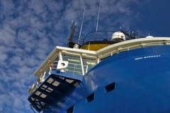 Navio de carga geral azul Foto de Stock Royalty Free