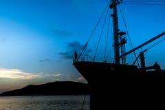 Navio de carga no songkhla Tailândia Imagem de Stock