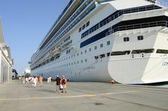 Navio de Costa Concordia, cruzeiro mediterrâneo foto de stock royalty free