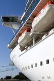 Navio de Crusie na porta Foto de Stock Royalty Free