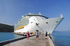 Navio de cruzeiros as Caraíbas Haiti Fotografia de Stock Royalty Free