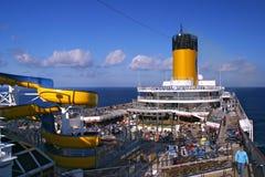 Navio de cruzeiros Costa Magica da plataforma Fotografia de Stock Royalty Free