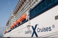 Navio de cruzeiros da celebridade X Fotos de Stock Royalty Free