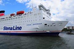 Navio de cruzeiros de Stena Germanica no rio de Gothia, Gothenburg, Suécia Imagem de Stock