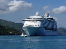 Navio de cruzeiros do Cararibe imagens de stock