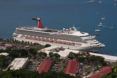 Navio de cruzeiros do Cararibe Fotos de Stock Royalty Free