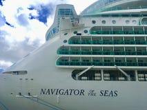 Navio de cruzeiros do Cararibe real fotos de stock