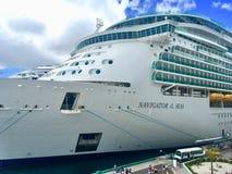 Navio de cruzeiros do Cararibe real foto de stock royalty free