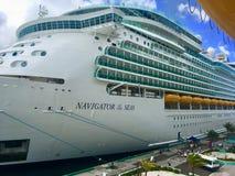 Navio de cruzeiros do Cararibe real fotografia de stock
