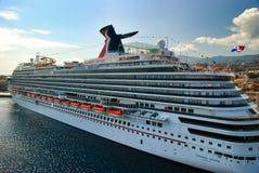 Navio de cruzeiros do forro de oceano das férias Fotografia de Stock Royalty Free