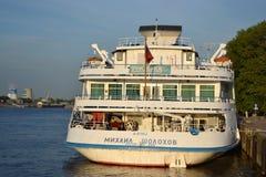 Navio de cruzeiros do rio Foto de Stock Royalty Free