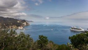 Navio de cruzeiros em Avalon, lapso de tempo da noite de Santa Catalina Island filme