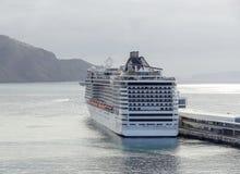 Navio de cruzeiros em Madeira Imagens de Stock