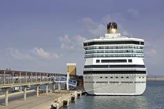 Navio de cruzeiros em Palma Imagens de Stock