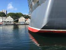 Navio de cruzeiros em Stavanger Imagens de Stock