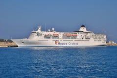 Navio de cruzeiros feliz do golfinho, o Rodes Fotografia de Stock