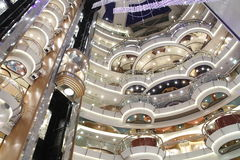 Navio de cruzeiros interior luxuoso Fotografia de Stock Royalty Free