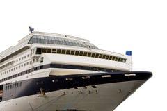Navio de cruzeiros isolado no branco Fotos de Stock Royalty Free