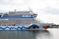 Navio de cruzeiros luxuoso alemão Aida Mar Fotografia de Stock Royalty Free