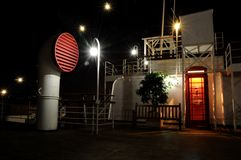Navio de cruzeiros na noite Imagem de Stock