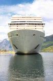 Navio de cruzeiros na porta de Flaam Fotografia de Stock Royalty Free