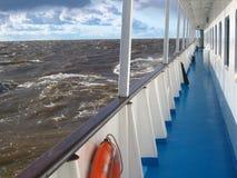 Navio de cruzeiros no mar Fotografia de Stock Royalty Free