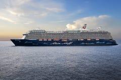Navio de cruzeiros no mar Fotos de Stock