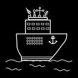 Navio de cruzeiros ou embarcação de pesquisa Imagens de Stock