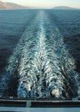Navio de cruzeiros que navega a velocidade cheia Imagens de Stock