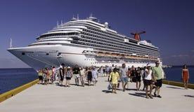 Navio de cruzeiros - sonho do carnaval em Cozumel Imagem de Stock