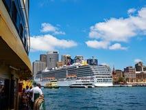 Navio de cruzeiros, Sydney, Austrália Fotos de Stock