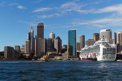 Navio de cruzeiros, Sydney Harbour, Austrália Imagens de Stock