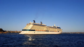 Navio de cruzeiros ultramarino Foto de Stock Royalty Free