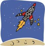 Navio de espaço de Rocket ilustração royalty free