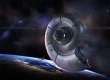 Navio de espaço estrangeiro Fotografia de Stock Royalty Free
