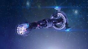 Navio de espaço futurista ilustração stock