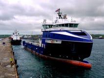 Navio de fonte a pouca distância do mar 12a Imagem de Stock