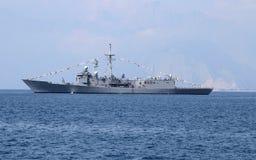 Navio de guerra fotografia de stock