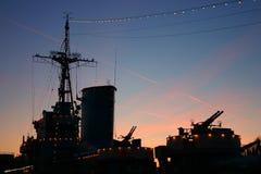 Navio de guerra Imagem de Stock
