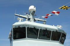 Navio de guerra da fragata da marinha Foto de Stock Royalty Free