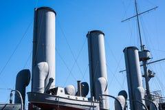 Navio de guerra das tubulações de vapor Foto de Stock Royalty Free